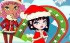Игра девочки и новый год и мои winx манекены!