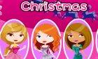 Игра одевалка и макияж девочек на рождество и Winx картинки!